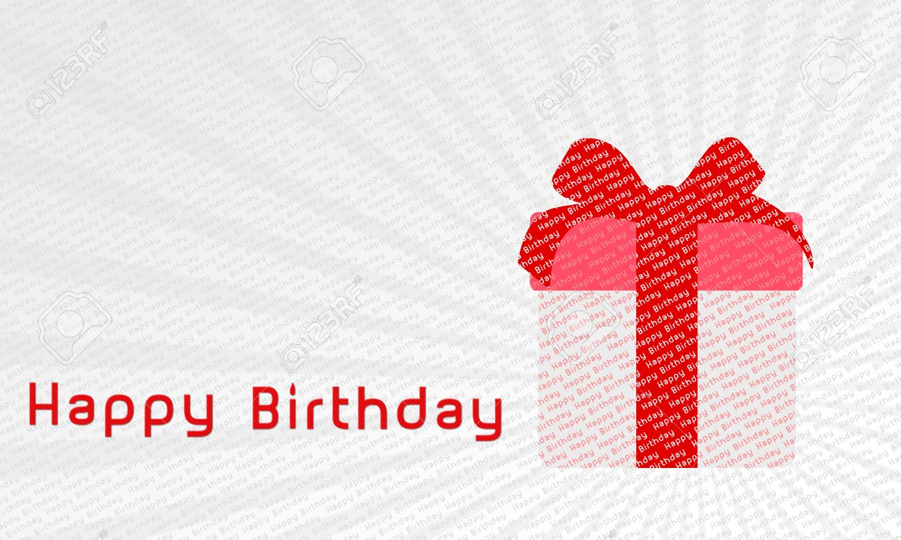 Happy Birthday Gift Wallpaper Stock Photo Picture And Royalty Free