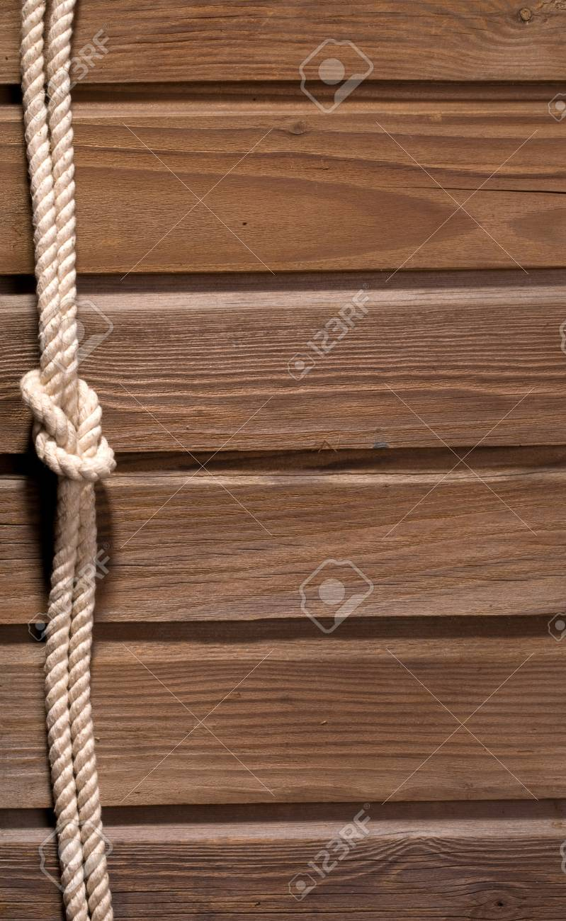 Image of old texture of wooden boards with ship rope. Stock Photo - 12769230
