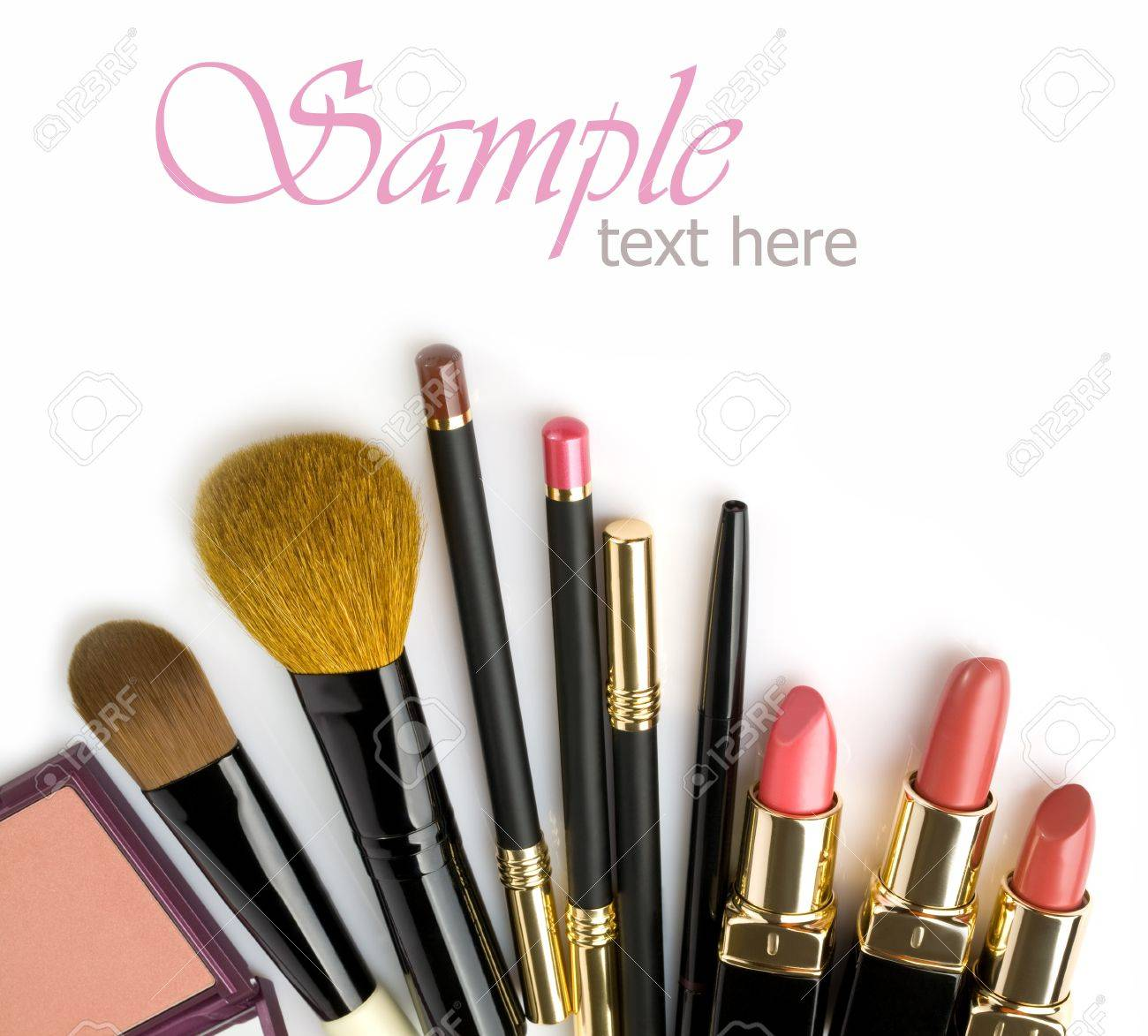 Various cosmetics isolated over white Stock Photo - 14150751