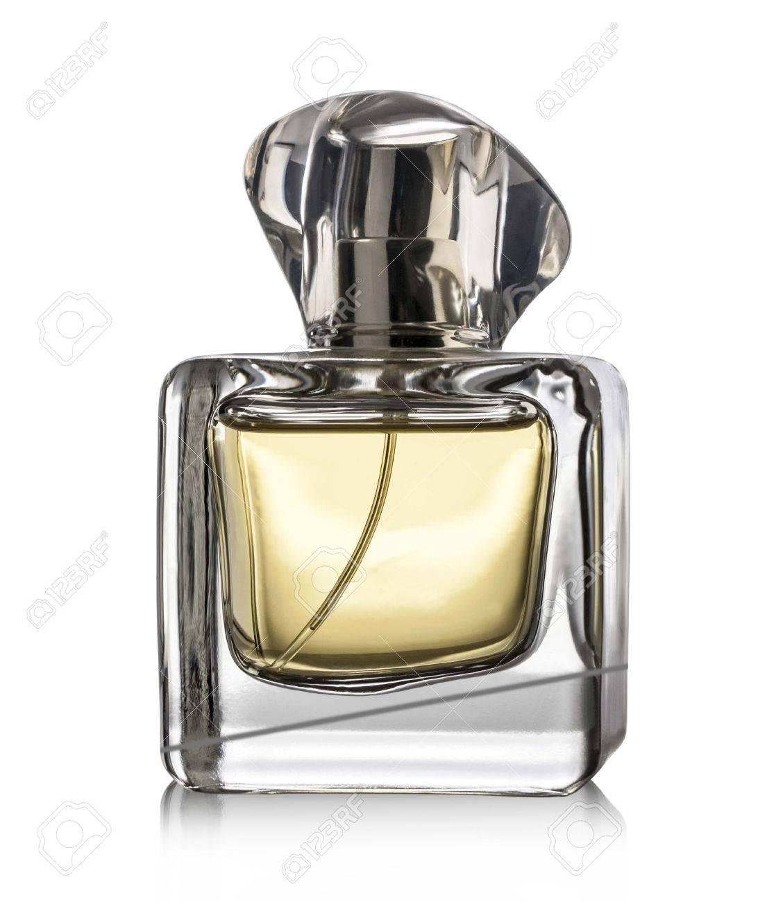 Top Bouteille De Parfum Sur Fond Blanc, Avec Chemin De Détourage  CO44