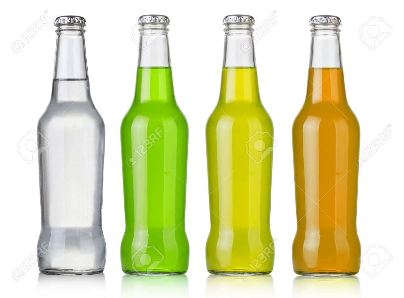 Four assorted soda bottles, non-alcoholic drinks - 45559374