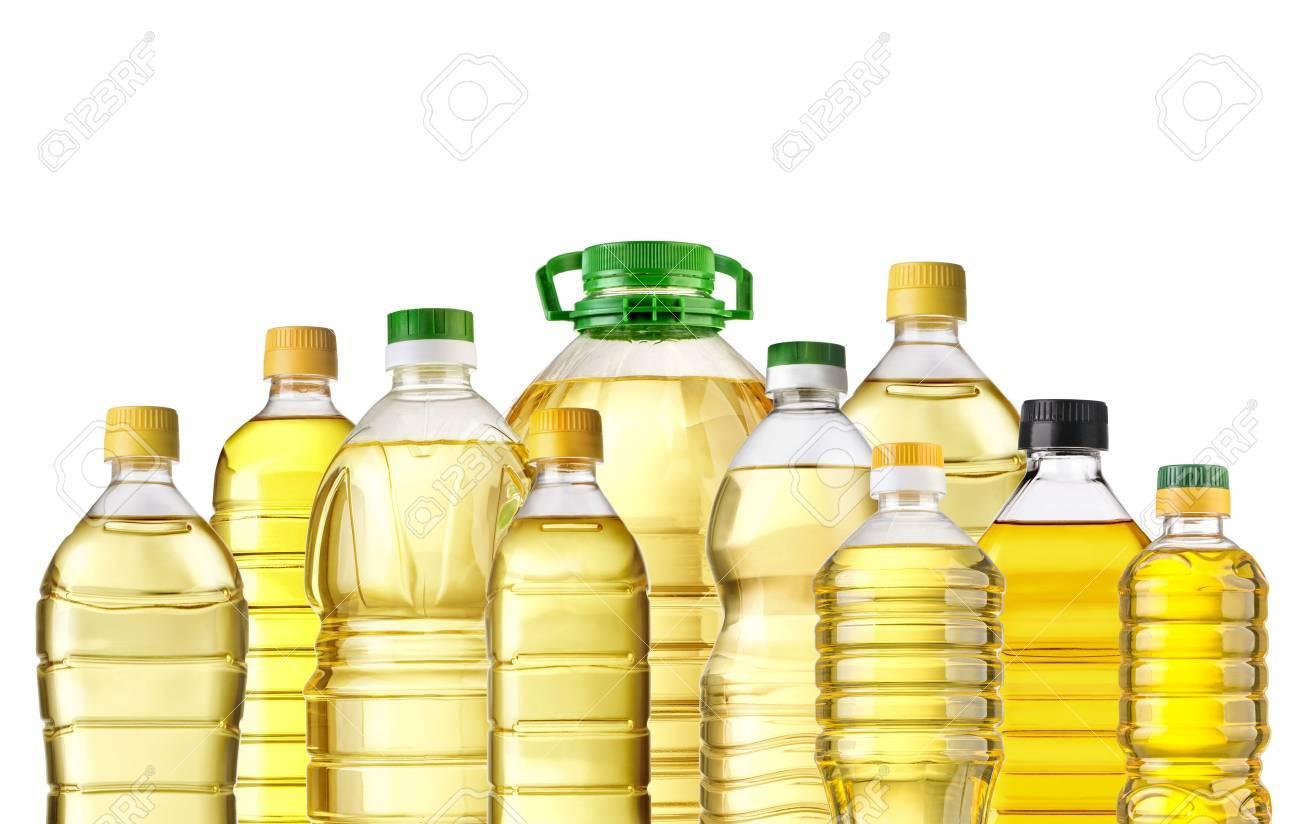 Olive oil bottles isolated on white background - 46797206