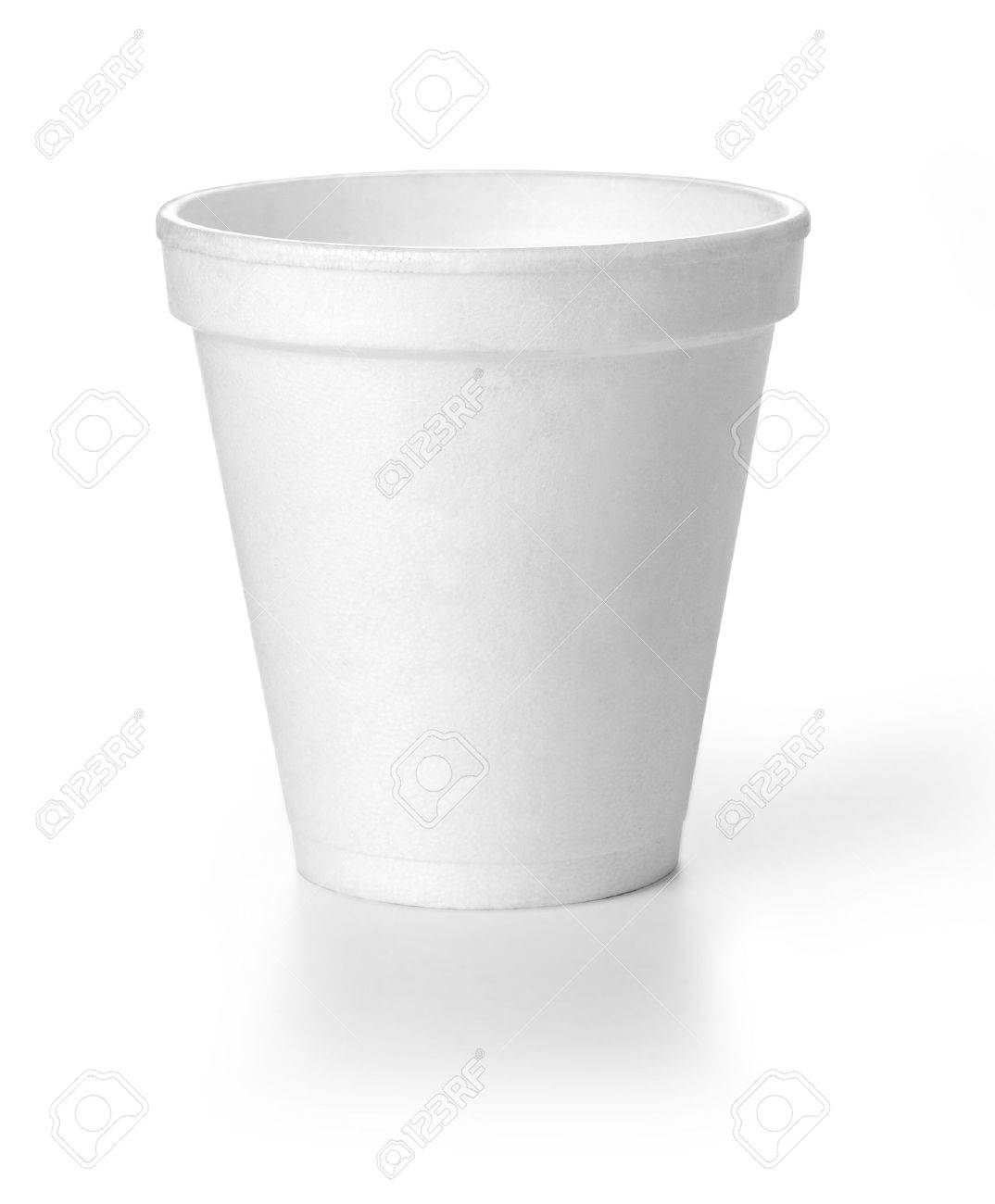 Polistren foam takeaway coffe cup with clipping path - 49210024