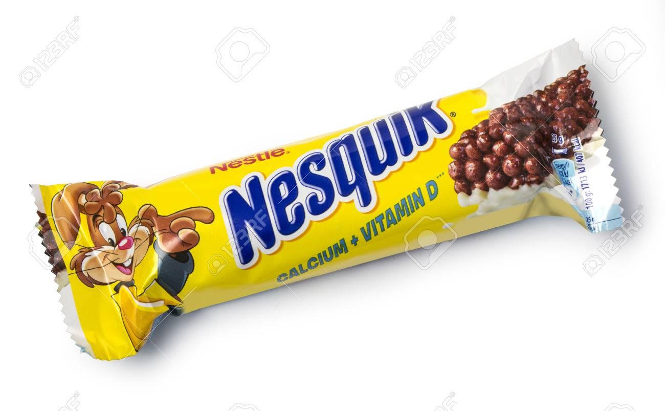 Chisinau Moldau Novemberl 14 2015 Nestle Nesquik Musliriegel