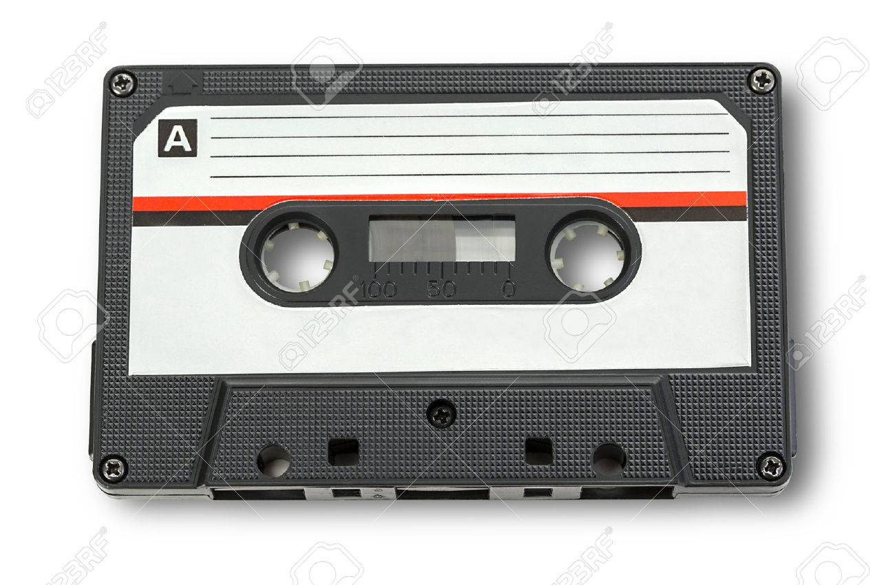 Audio cassette tape isolated on white background - 55216123