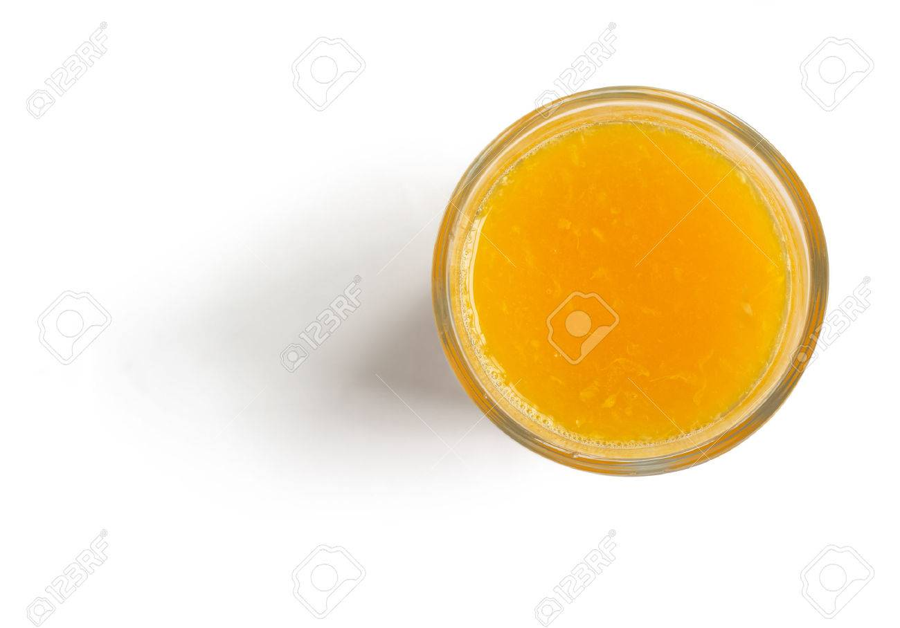 Fresh l Orange Juice on white background top view, with clipping path - 59366655