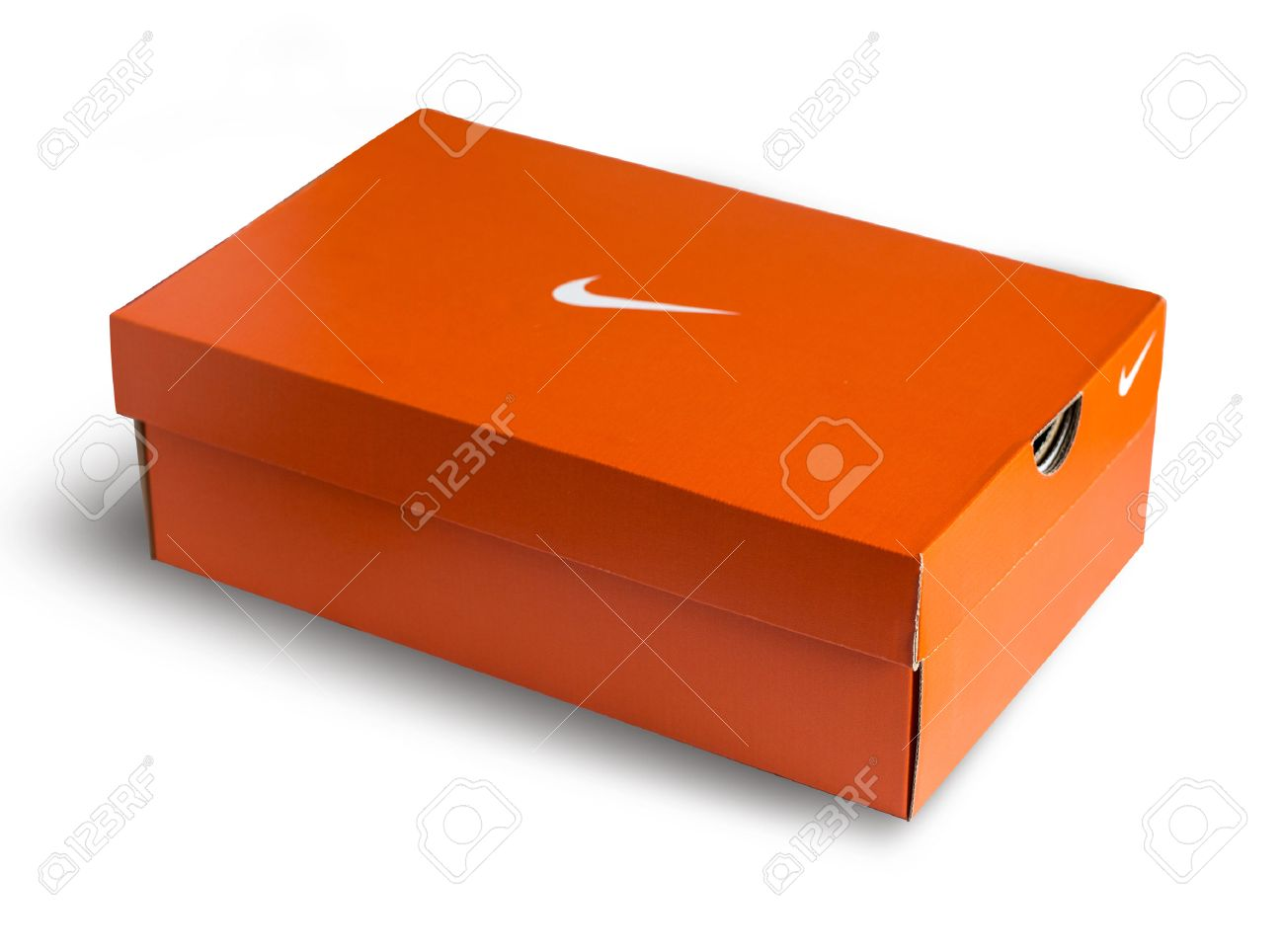 Best Mallorca, Spain -Mai 10, 2016: Red Nike Shoes Box Isolated On  LE97