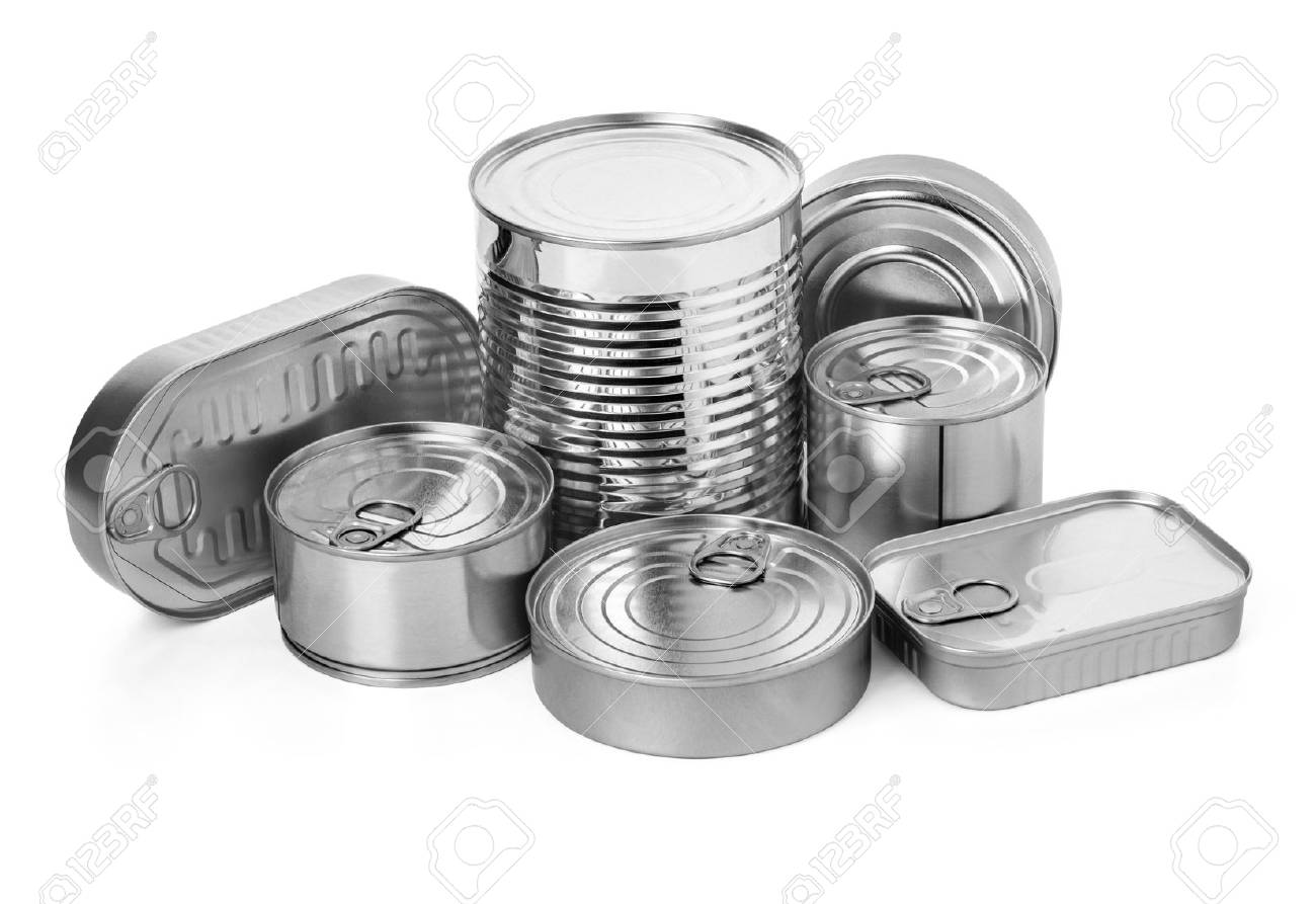 metal cans on a white background.with clipping path - 60169846