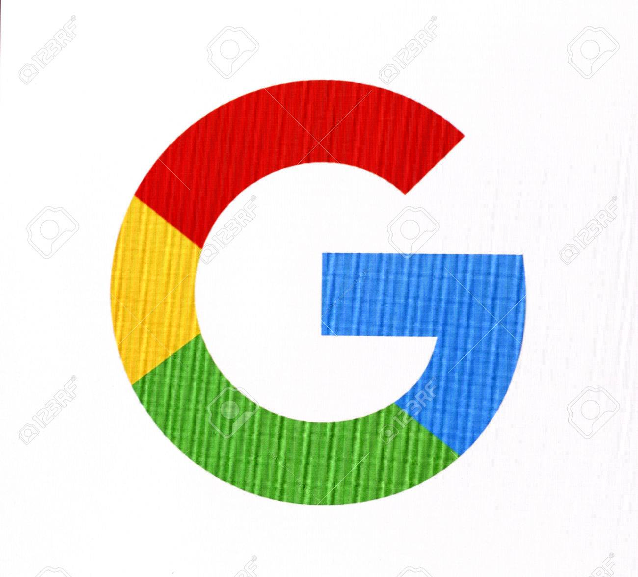 Chisinau, Moldova November 16, 2016: Google logo on pc screen. Google it is the largest Internet search engine, owned of Google Inc. - 66047248