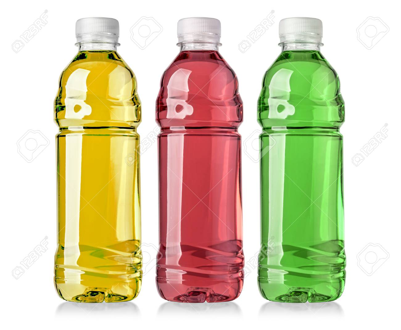 energy drinks with different flavors on a white background with clipping path - 69536393