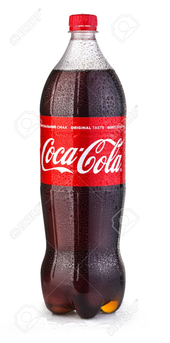 CHISINAU , MOLDOVA- May 28, 2017: Photo of Coca-Cola plastic bottle Isolated on white Background With drops - 79293169
