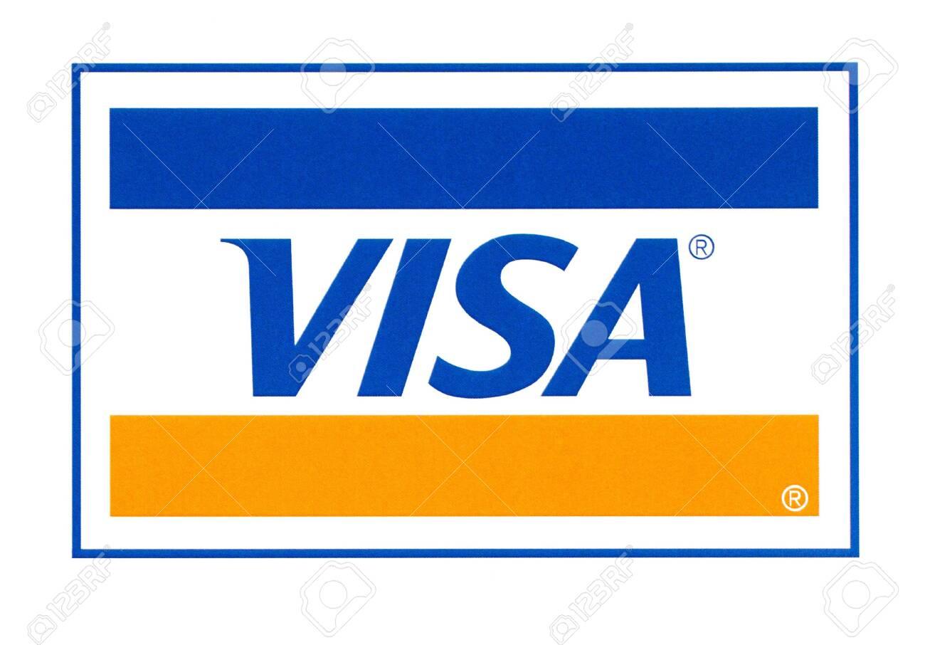 Chisinau, Moldova - September 10, 10: Visa logo printed on..