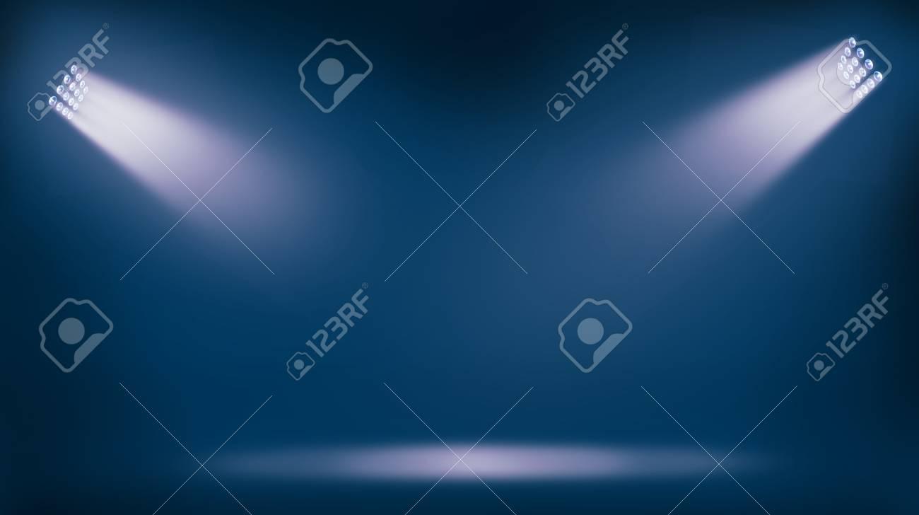 soccer stadium lights reflectors against blue background - 116946775