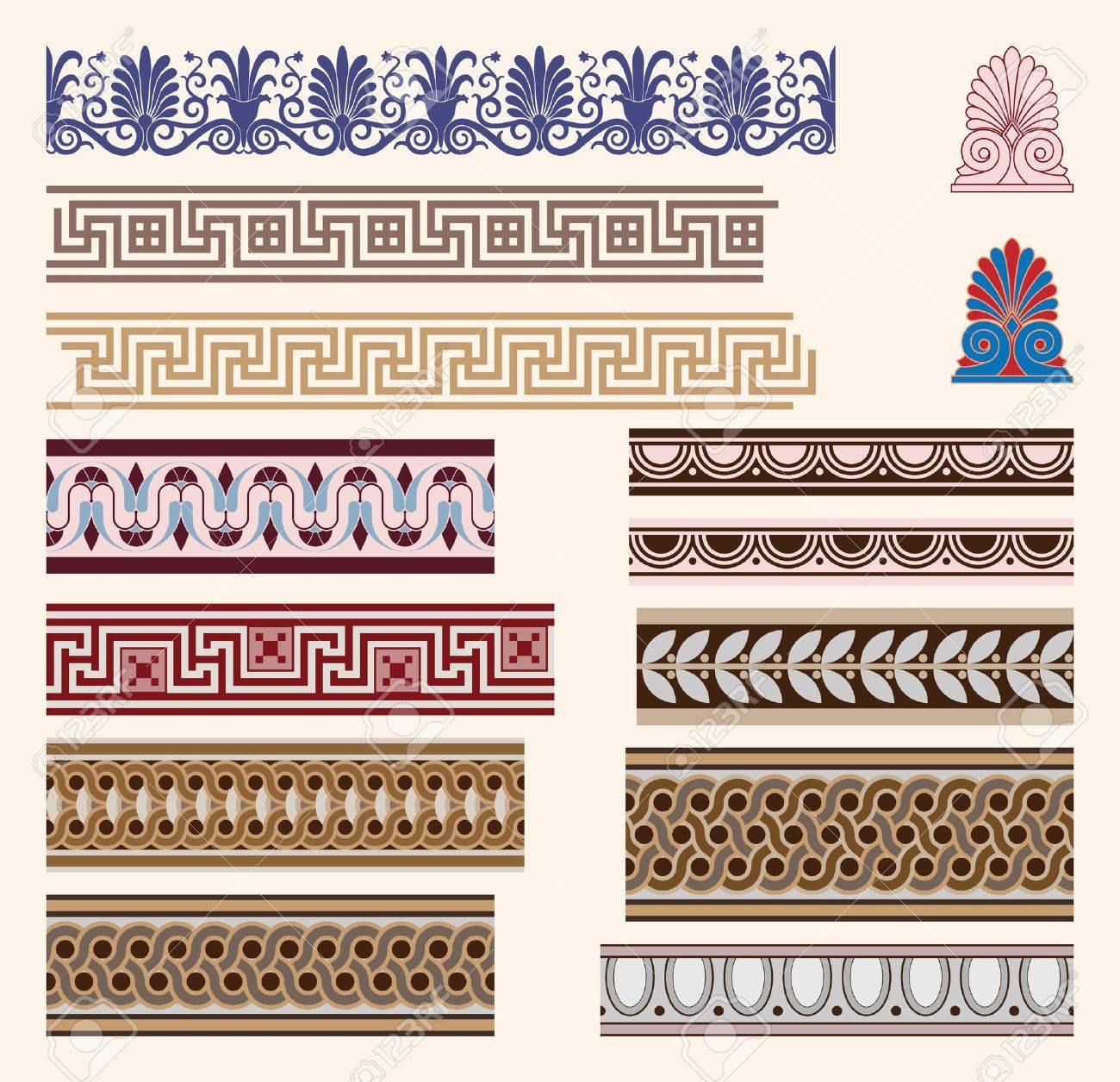 Greek border ornaments Stock Vector - 10128274