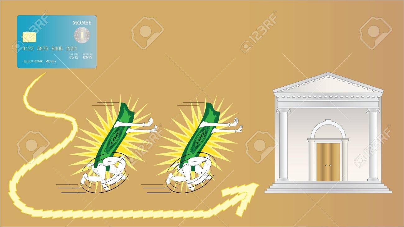Electronic money is very fast Stock Vector - 11640004