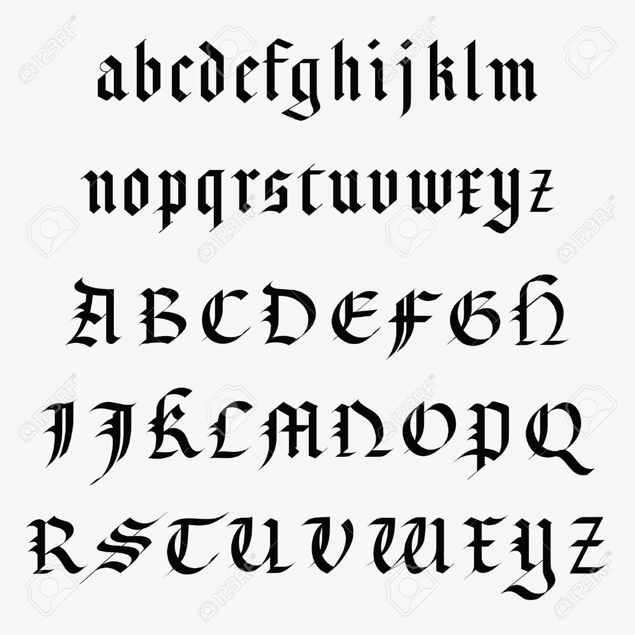 Medieval alphabet - 14014397
