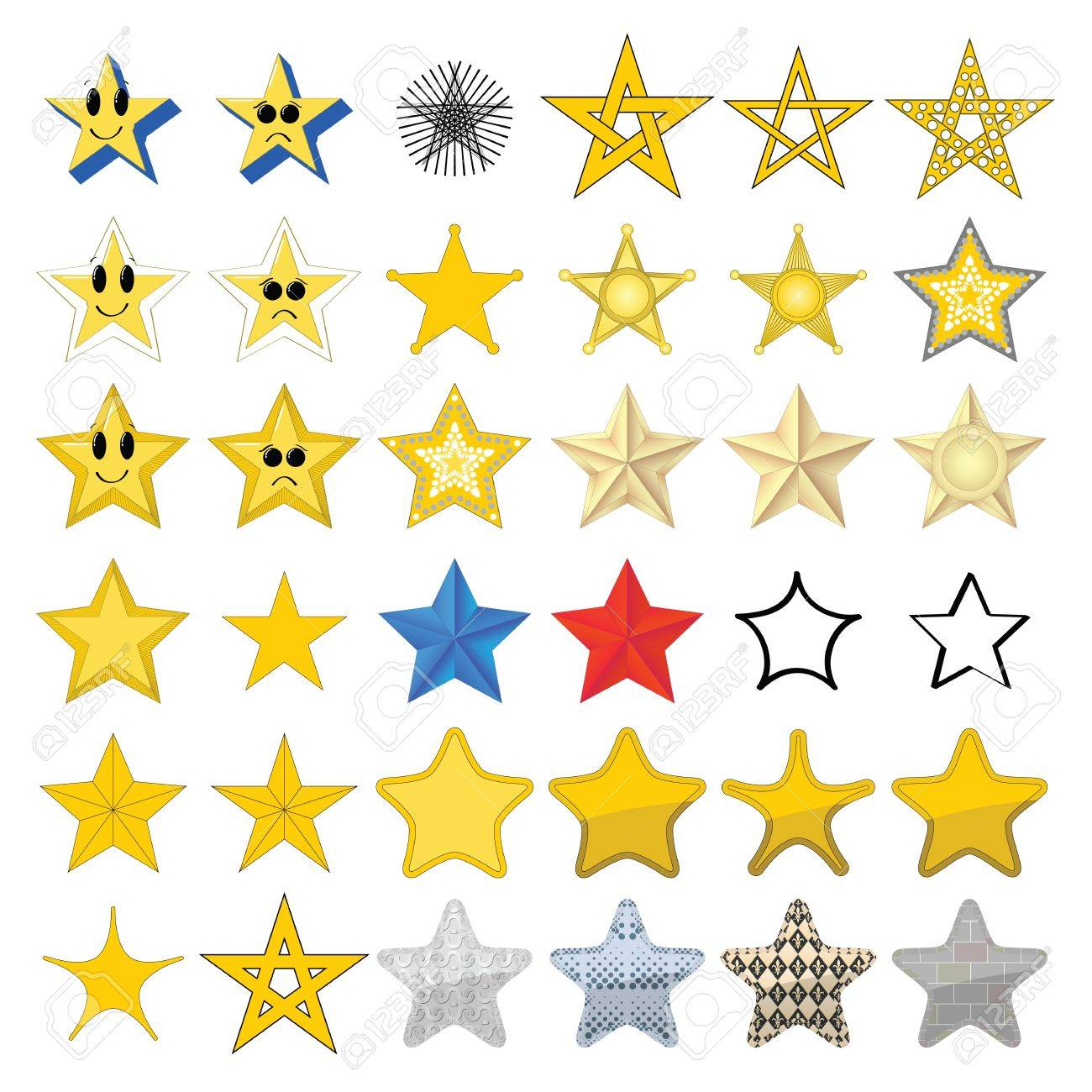 Collection of different stars - 14660907