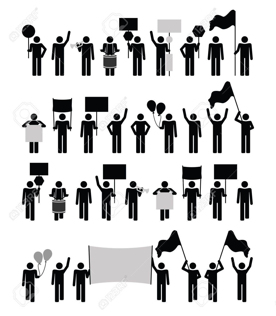 Protest - pictogram collection - 21515727
