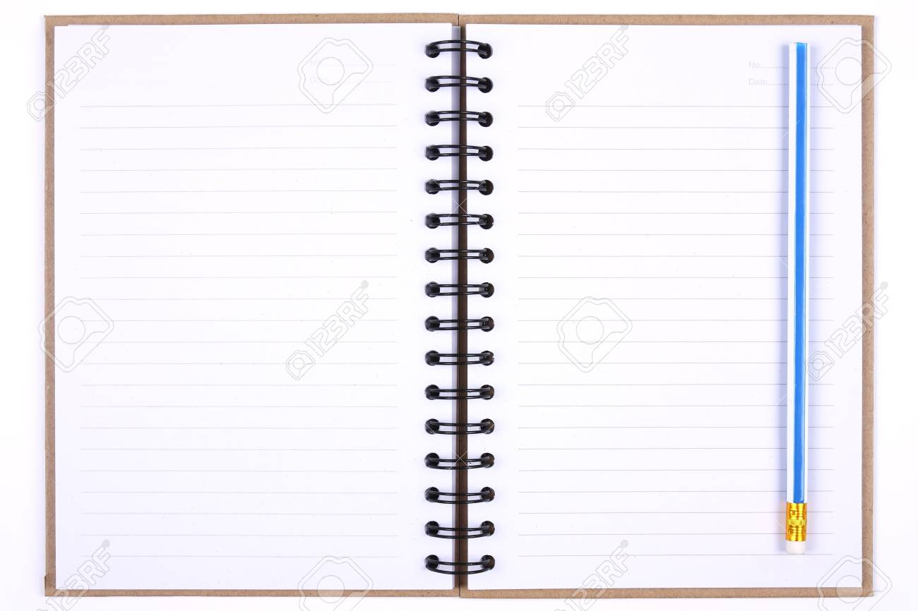 recycle notebook & blue pencil for environment and the earth Stock Photo - 8446109