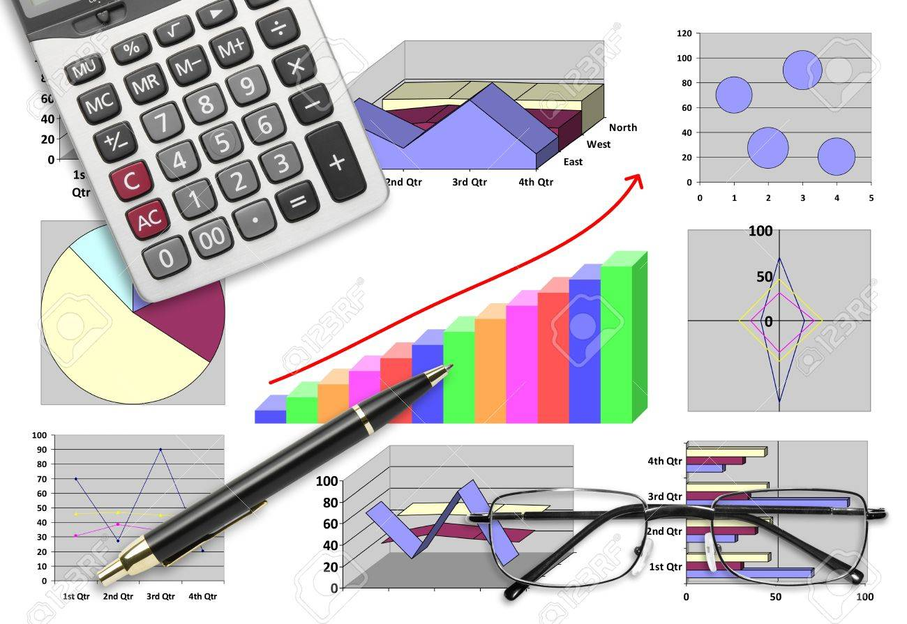 Marketing & financial statistic with graphic chart for business planning Stock Photo - 20354604