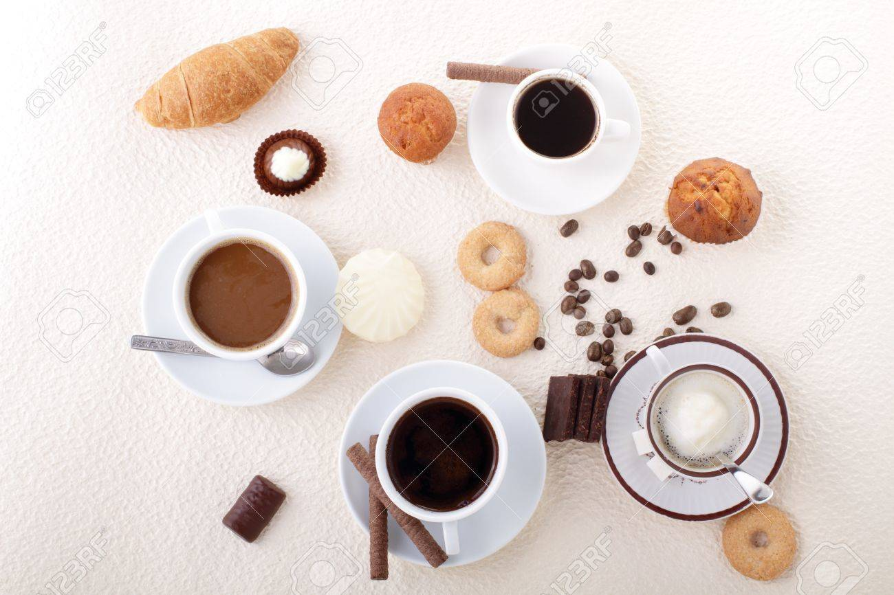 Coffee for a four Stock Photo - 10469029