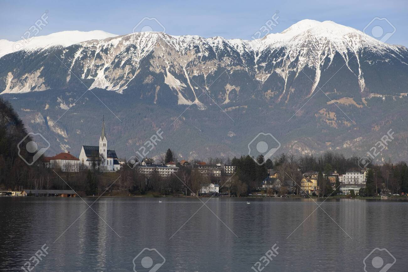 Morning City Landscape In Bled Slovenia Stock Photo Picture And Royalty Free Image Image 138368946