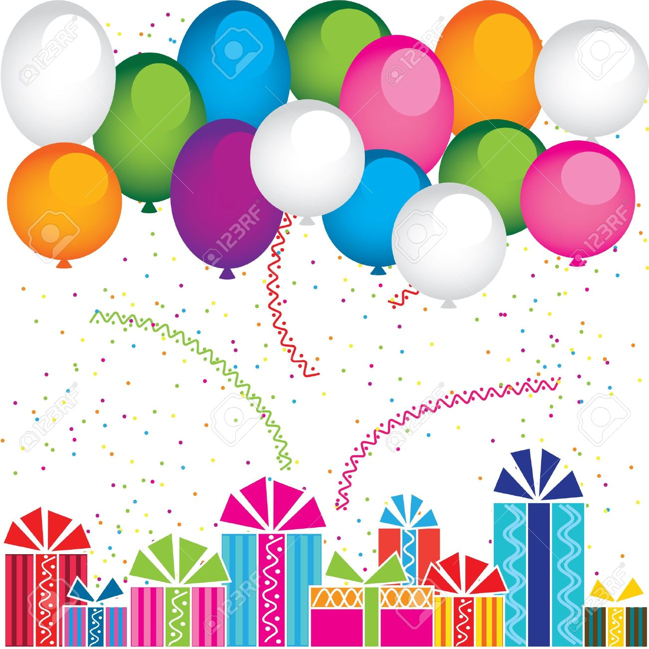 Vector gifts and balloons Stock Vector - 12855024
