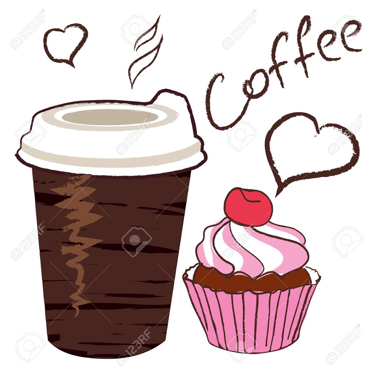 Чашка кофе рисунок трафарет