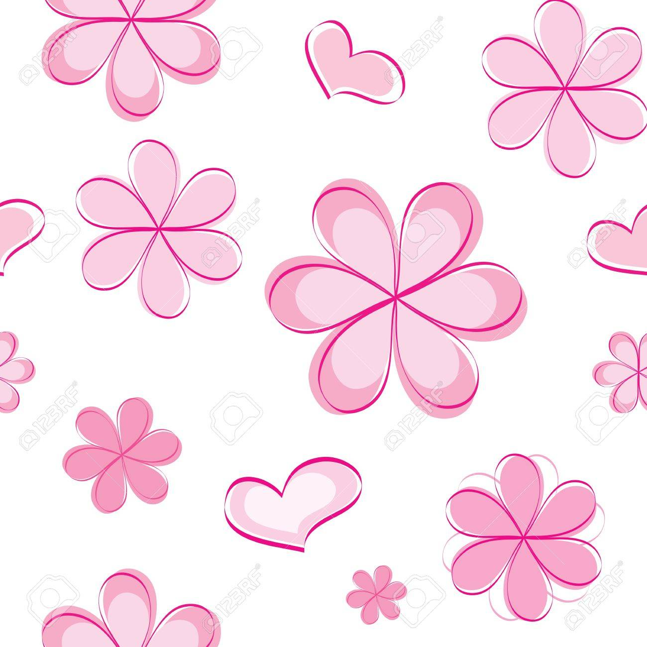 vector seamless pattern with flowers Stock Vector - 13035628