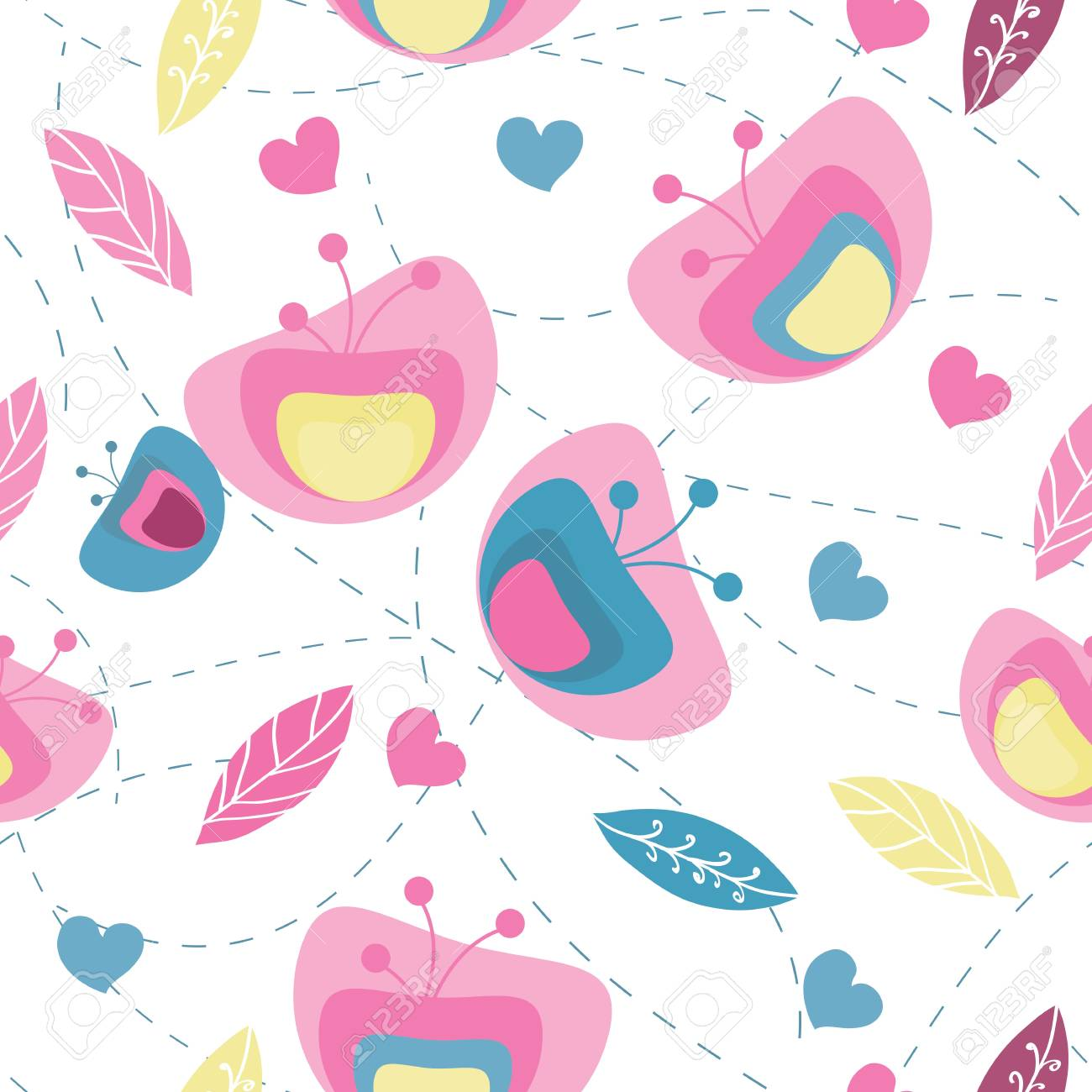 seamless abstract floral pattern Stock Vector - 13270041