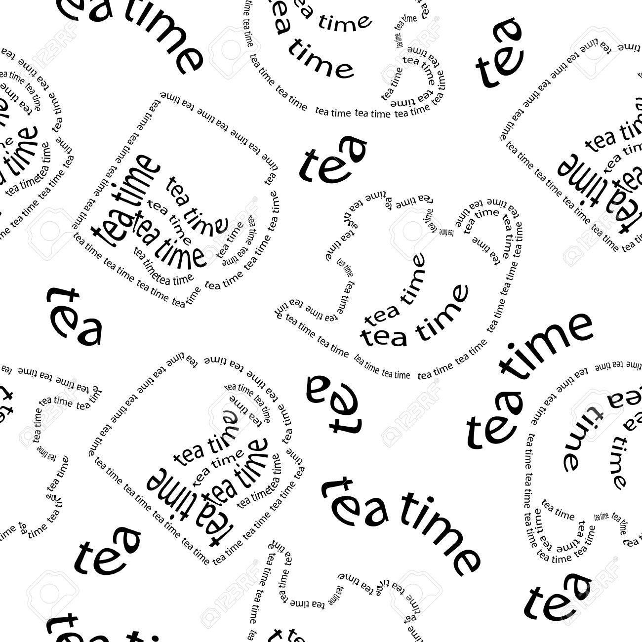 seamless pattern tea time Stock Vector - 13344952
