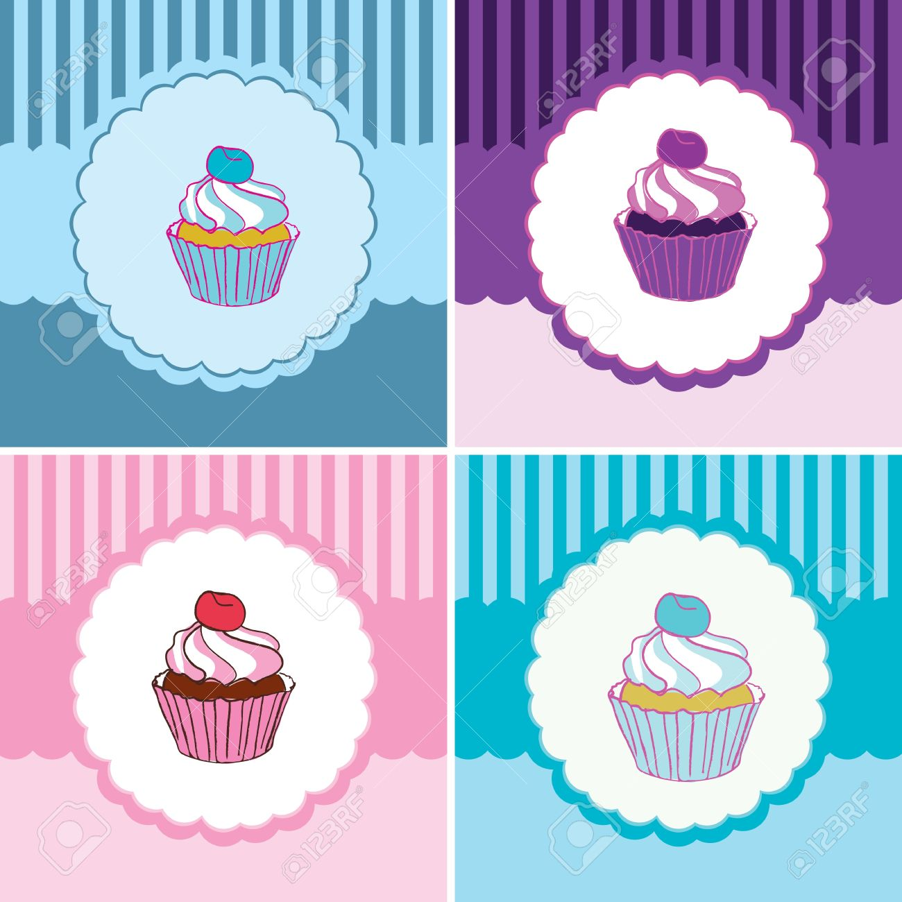 vector label cakes Stock Vector - 13459123