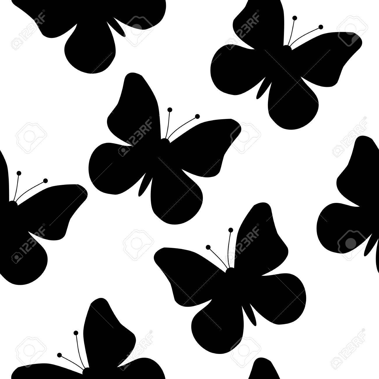 seamless pattern of a butterfly Stock Vector - 13693118