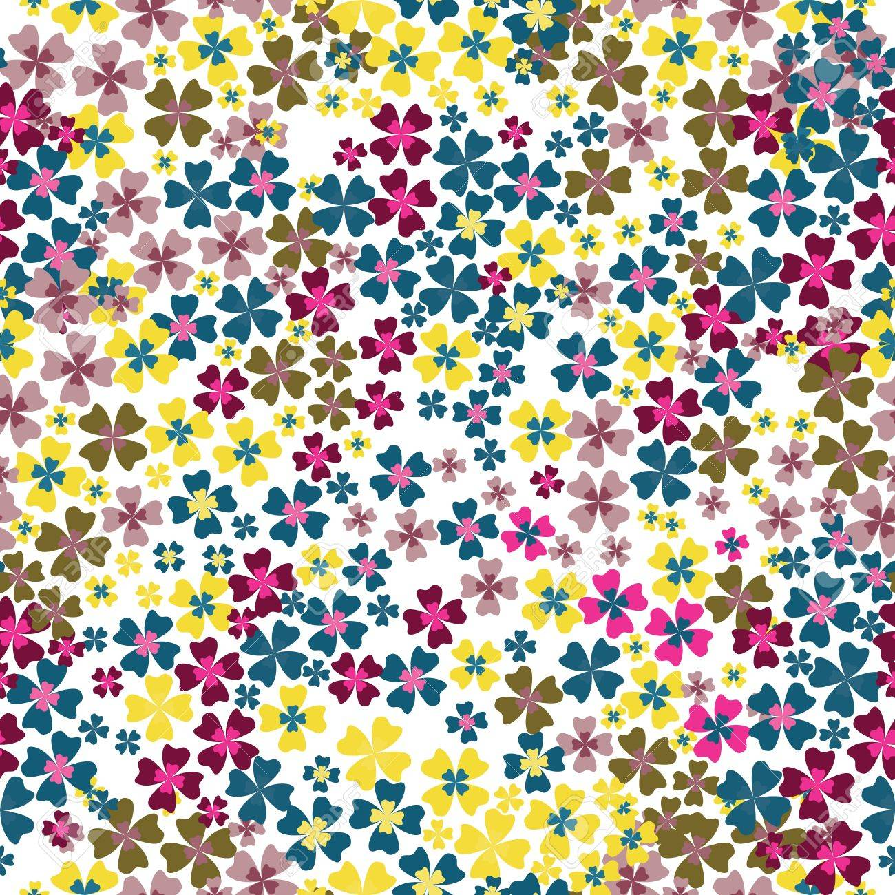 seamless pattern of colorful flowers Stock Vector - 14016628