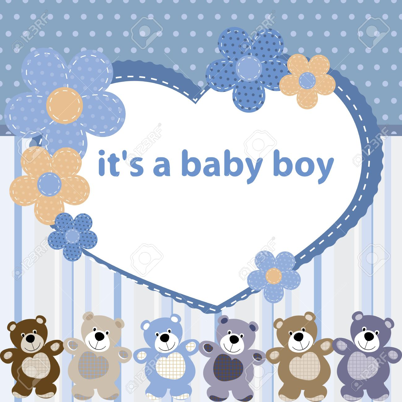Greeting card with the birth of a baby boy royalty free cliparts greeting card with the birth of a baby boy stock vector 14600935 m4hsunfo
