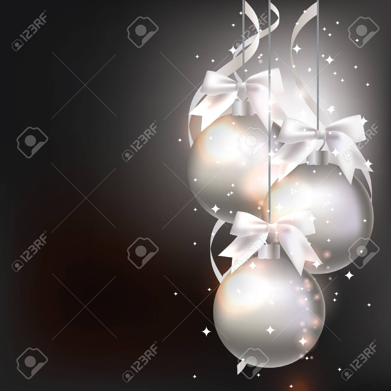 Christmas decorations on an abstract background Stock Vector - 14627574