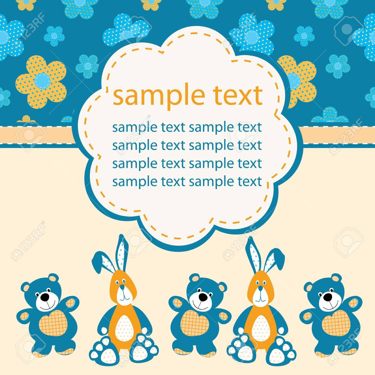 Baby greeting card Stock Vector - 15120415