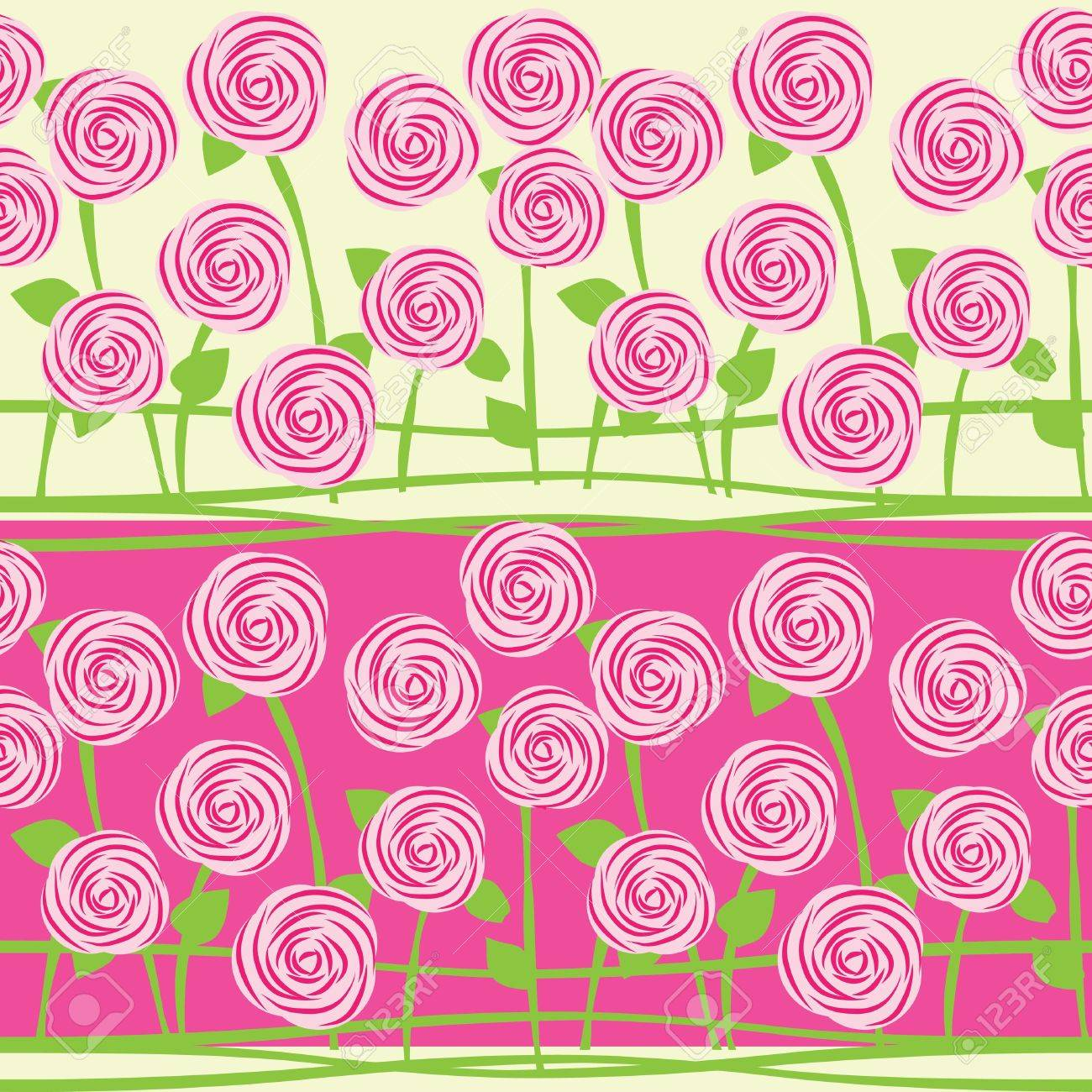 vector seamless pattern of roses Stock Vector - 15254512