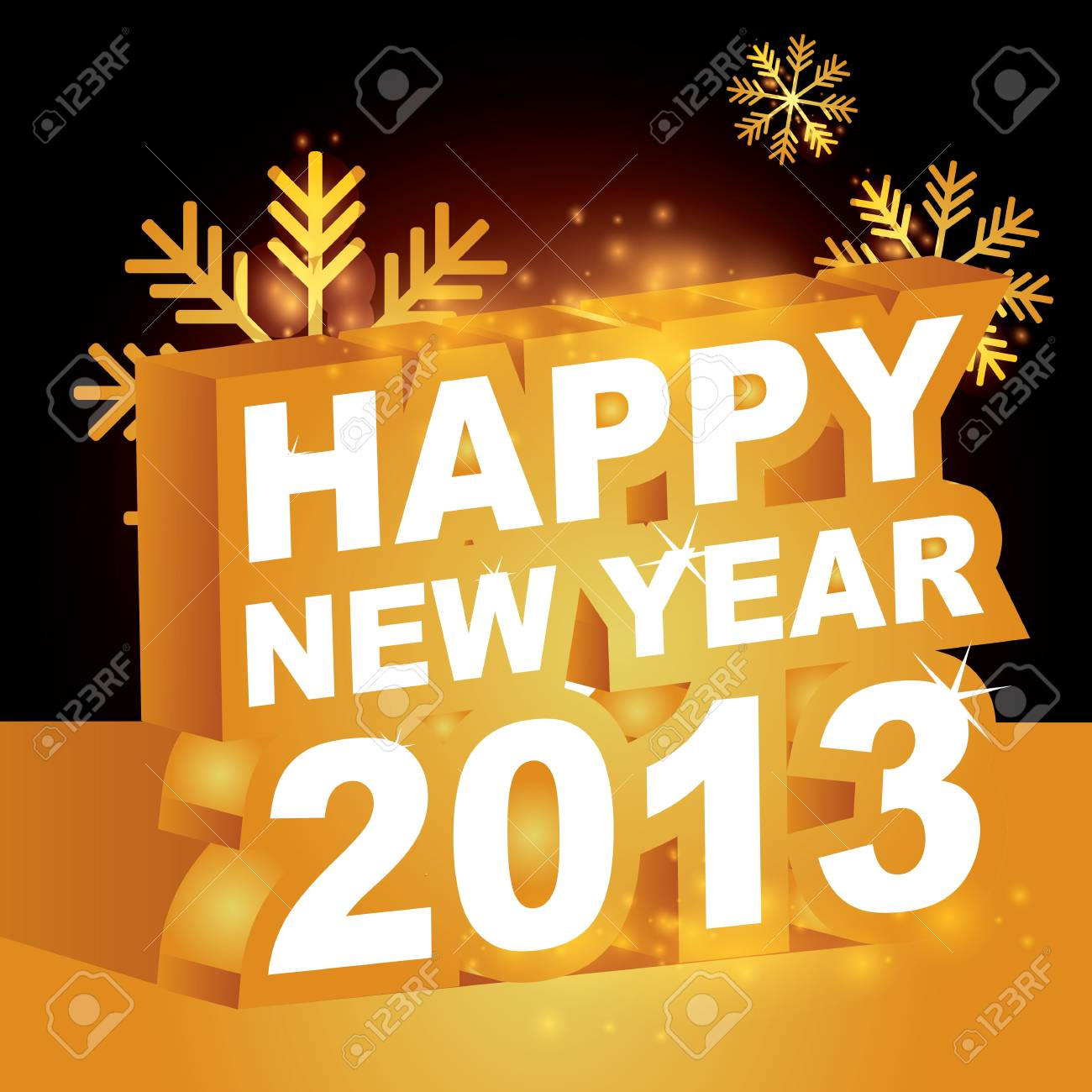 3D, Happy new year 2013 Stock Vector - 15755863