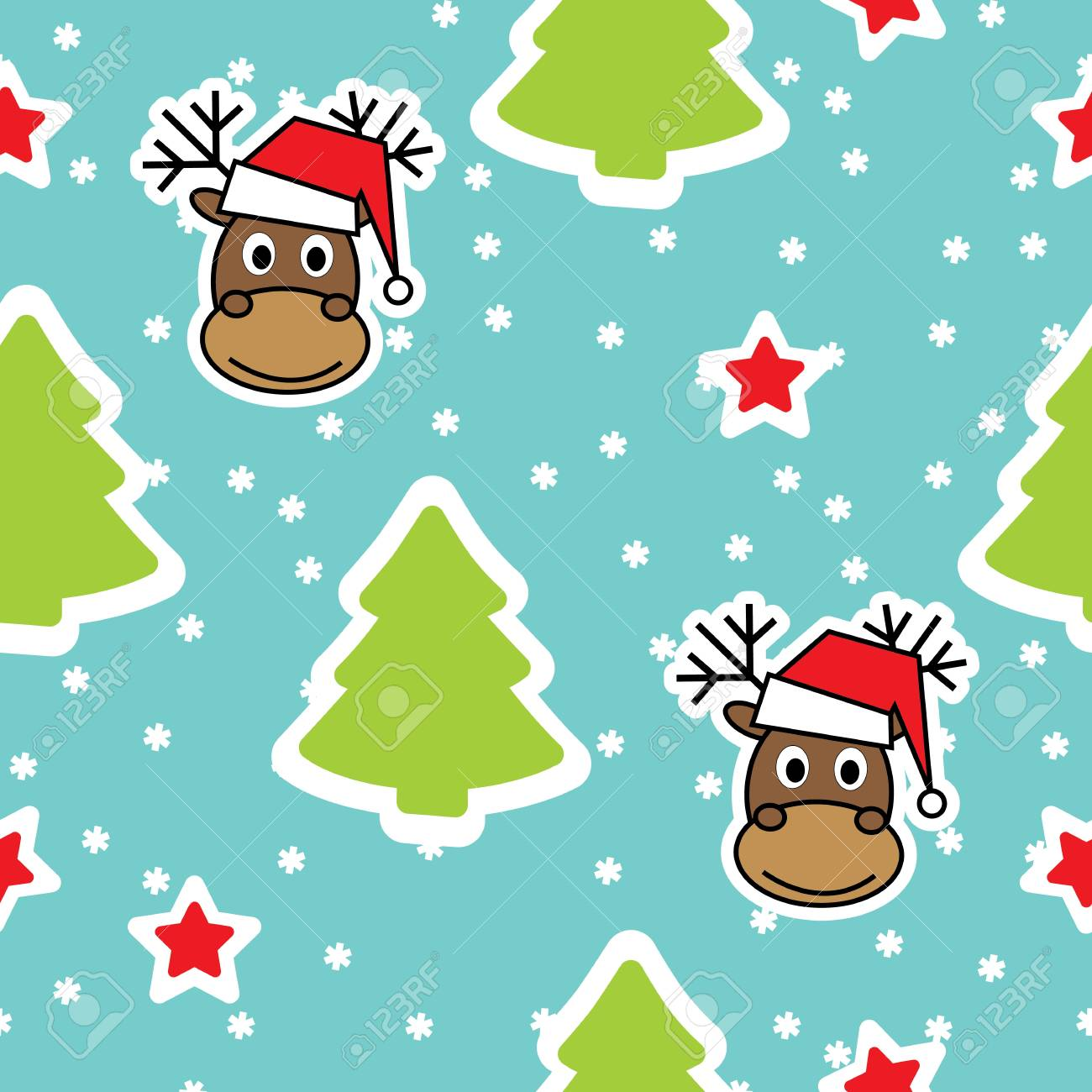 Seamless winter pattern, Christmas Stock Vector - 16449877