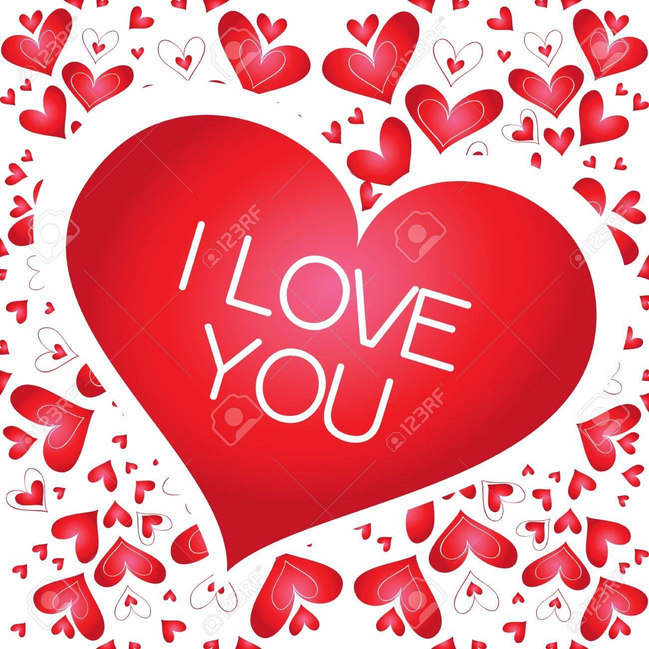 Banniere Vecteur Avec Un Coeur Je T Aime Clip Art Libres De Droits Vecteurs Et Illustration Image 17167741