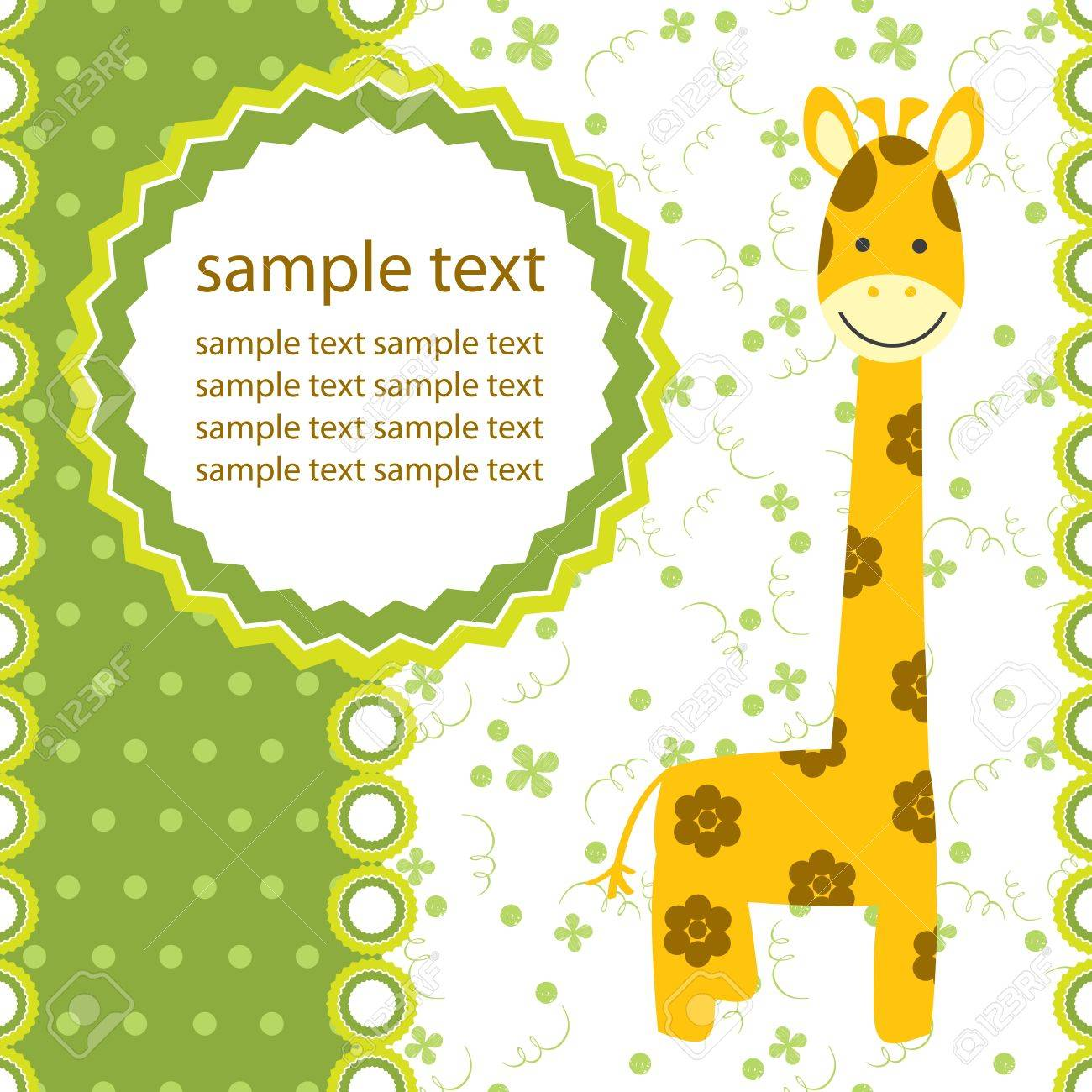 vector background with giraffe Stock Vector - 17513688
