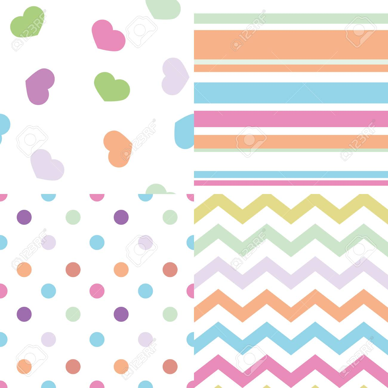 e1a995d36 set of simple baby seamless patterns