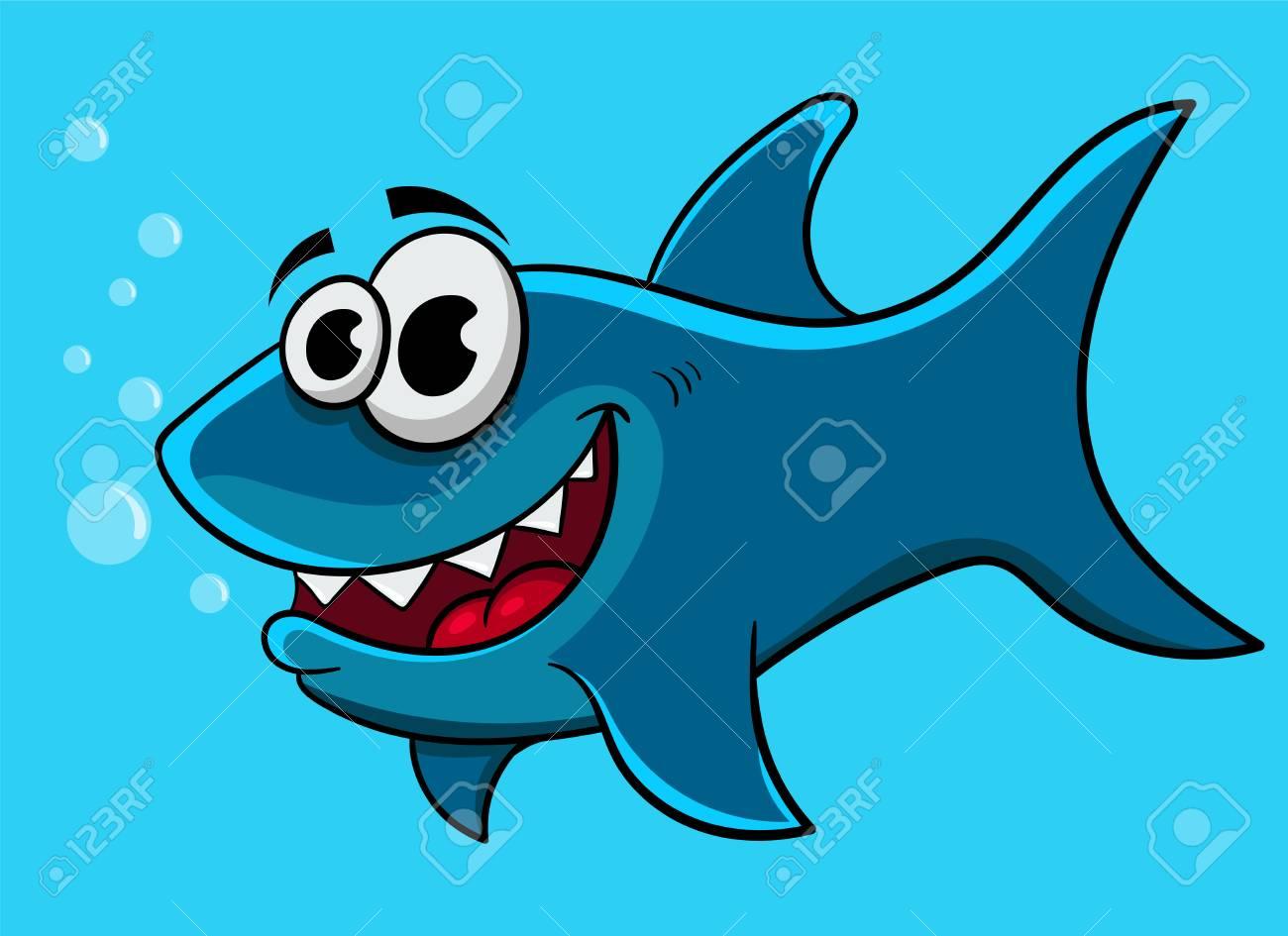 Cartoon funny shark, vector illustration design. Stock Vector - 99201091