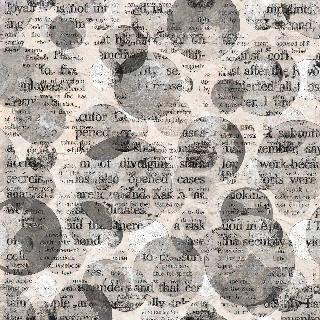 old newspaper texture. newspaper collage clippings with mixed