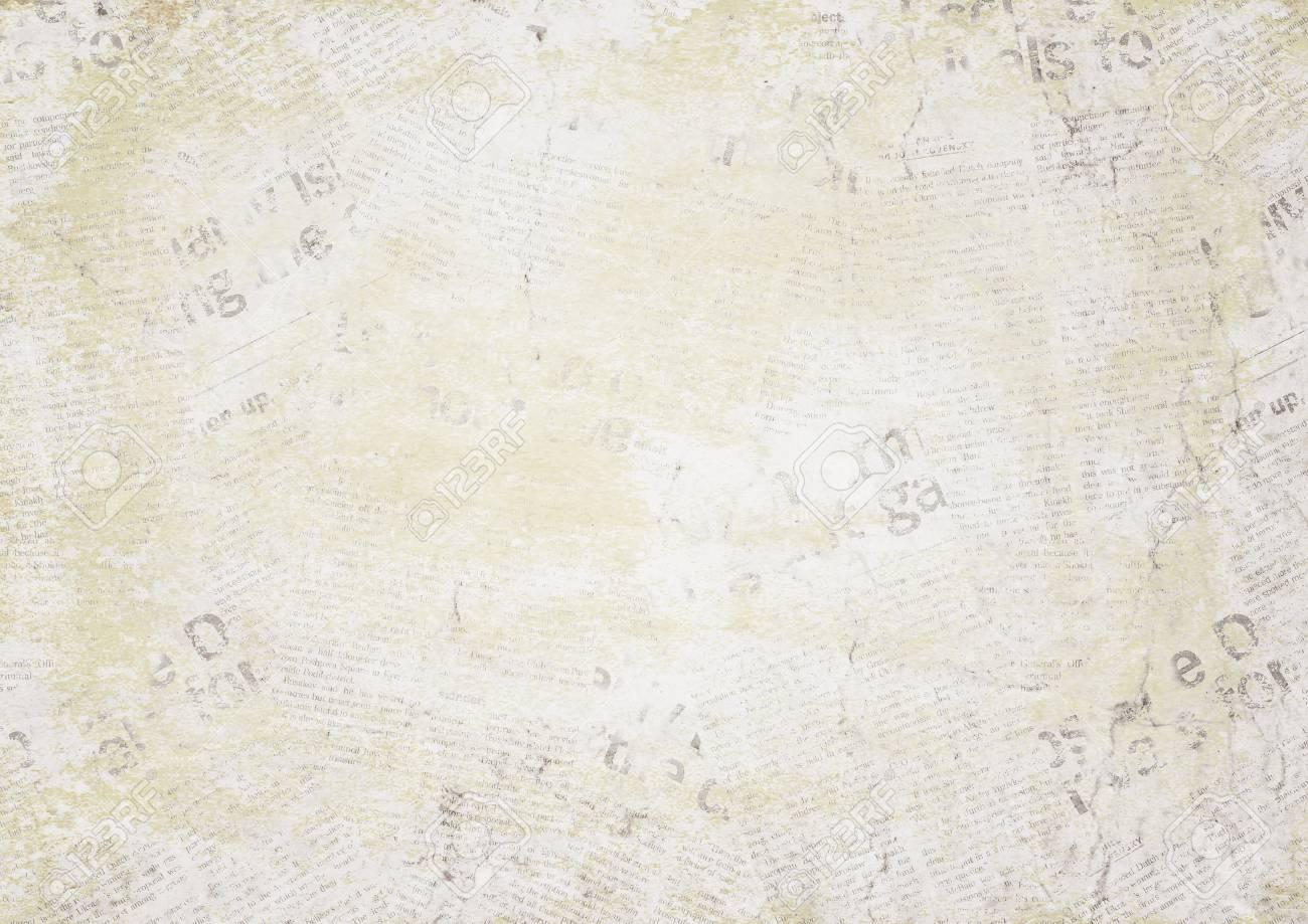 old newspaper paper grunge texture horizontal background. blur