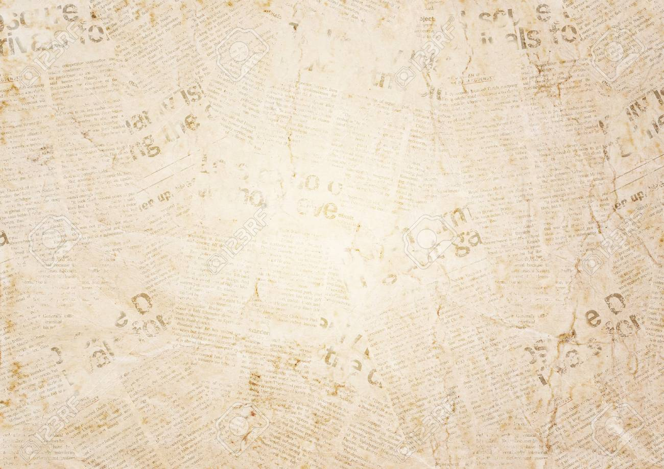 Old grunge newspaper paper texture background. Blurred vintage newspaper background. Aged blur paper textured page with place for text or image. Sepia collage news paper background. - 98408508