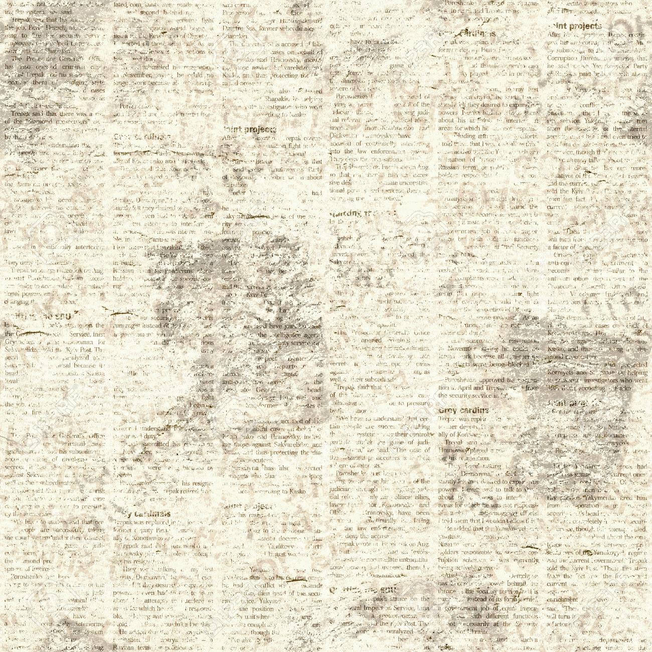 newspaper old grunge collage seamless pattern. unreadable vintage