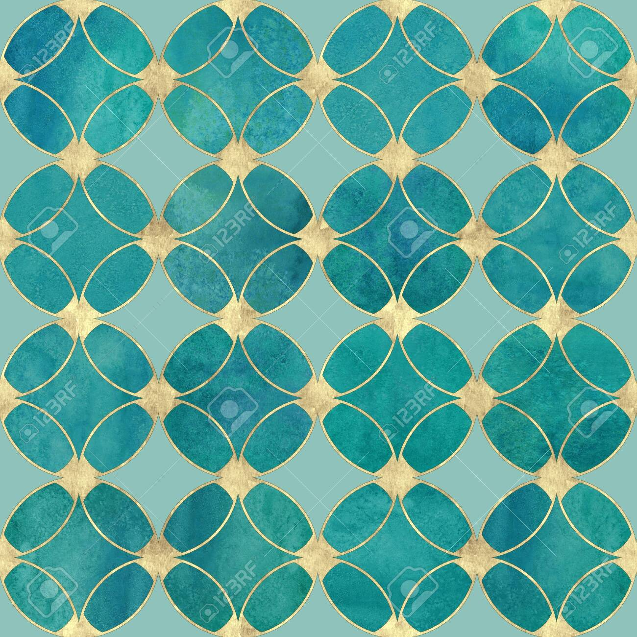 Seamless Watercolour Teal Turquoise Gold Glitter Abstract Texture Stock Photo Picture And Royalty Free Image Image 116851498