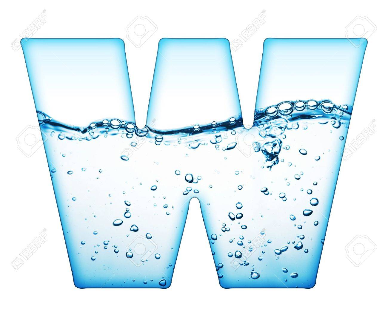 One letter of water wave alphabet Stock Photo - 9511581